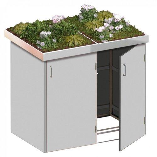 TraumGarten Mülltonnenbox HPL 2 x 240 Liter