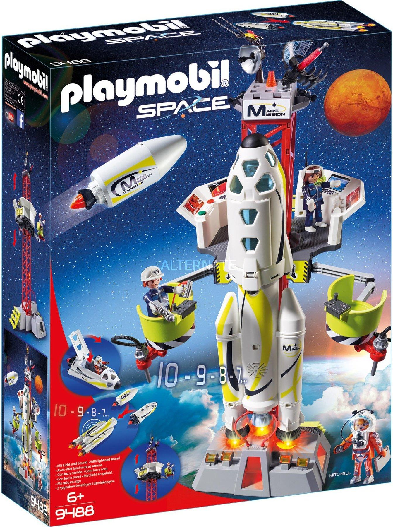 Playmobil Space Mars Rakete Mit Startrampe 9488