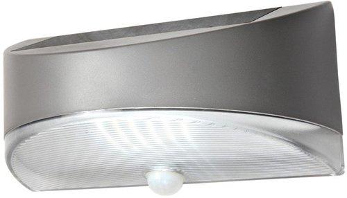 OSMOT Eco-Light Solar-Außenwandleuchte mit Bewegungsmelder 1.2W Neutral-Weiß Bread Silber (P9015S)