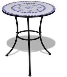 vidaXL Mosaiktisch 60cm blau/weiß (41530)
