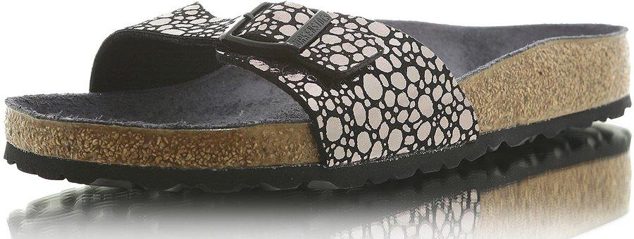 Birkenstock Madrid Birko Flor metallic stones black