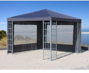 2 Seitenteile für Pavillons Aluminium Faltpavillon Anthrazit
