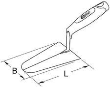 Tiroler Stukkateurkelle Kelle Putzkelle Putzerkelle 160 mm 200 mm rostfrei
