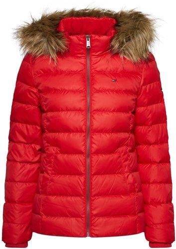 Verkaufsförderung USA billig verkaufen neue niedrigere Preise Tommy Hilfiger TJW Essential Hooded Down Jacket (DW0DW04711-602) red