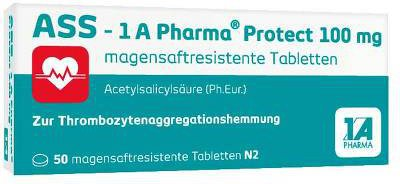 1A Pharma ASS Protect 100 mg magensaftresistente Tabletten (50 Stk.)