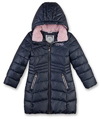 Eat ants by Sanetta Quilted Winter Coat blue