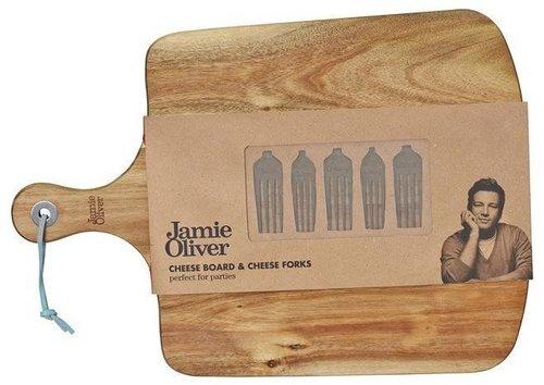 Jamie Oliver Käsebrett mit Käsegabeln 6-teilig