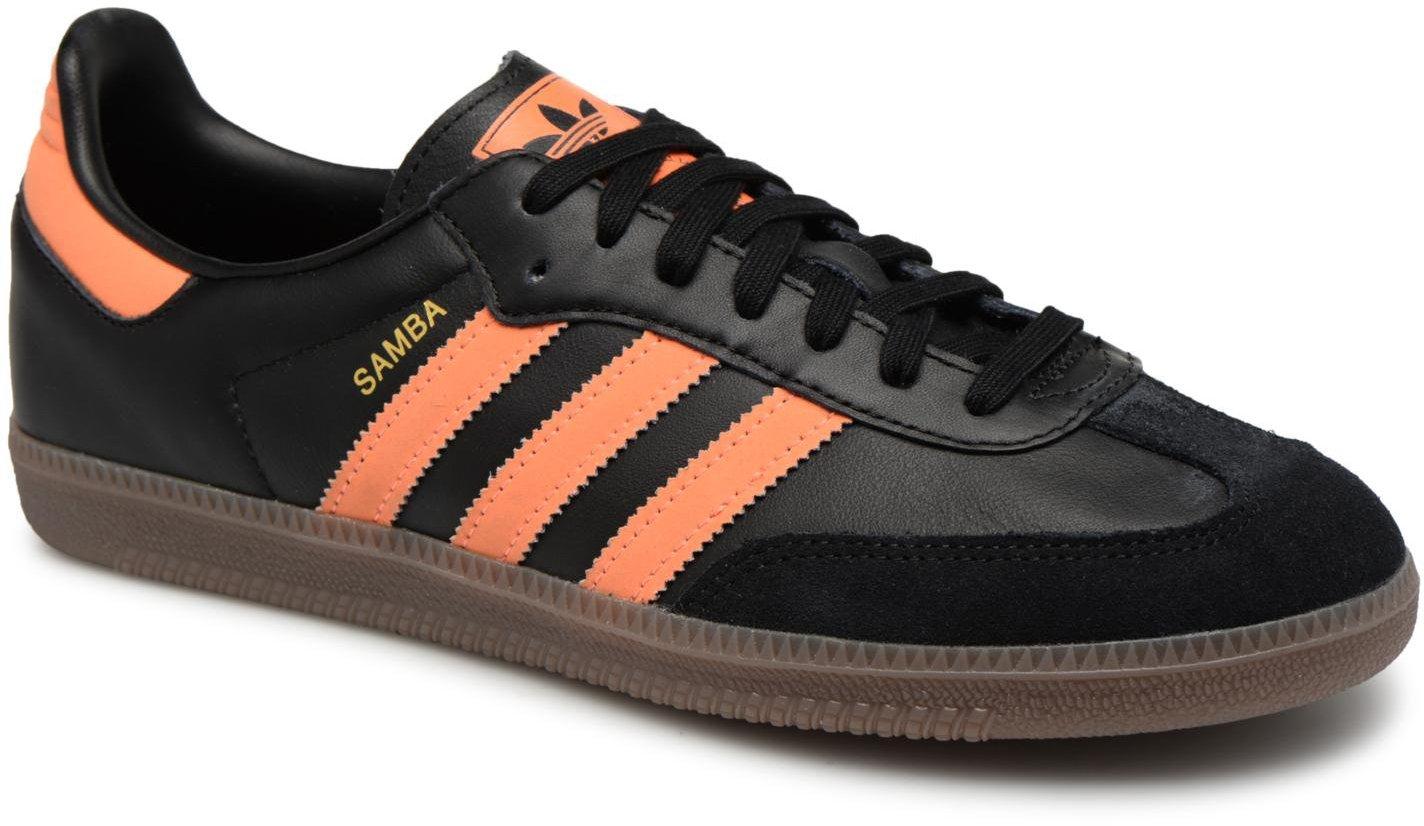 50% off to buy new lifestyle Adidas Samba OG core black/hi-res orange/gold metallic