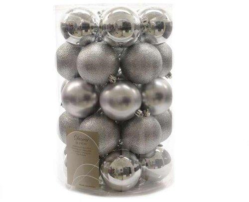 Christbaumkugeln Glas Günstig.Weihnachtskugeln Silber