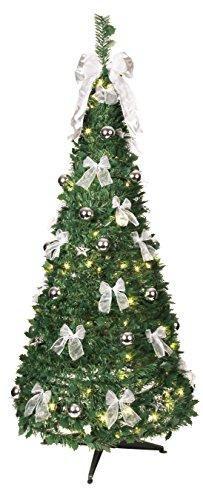 Weihnachtsbaum Klein Geschmückt.Beleuchteter Deko Tannenbaum
