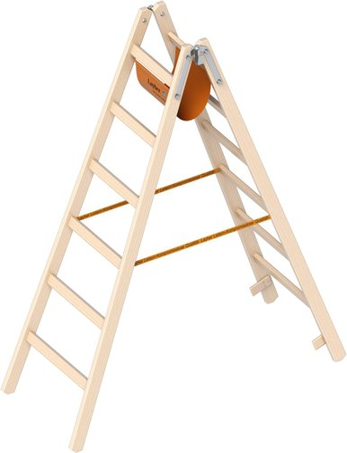 layher Holz-Stehleiter 6 Sprossen (1053206)