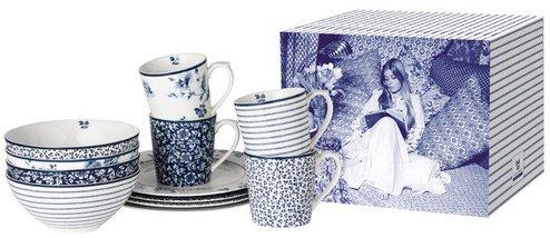 Laura Ashley Blue Print Geschirrset 12 tlg.