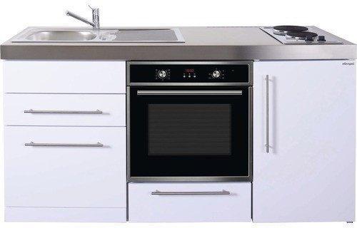 Stengel Miniküche 170 Cm Metall Glanz Weiß ( MPBGS170)