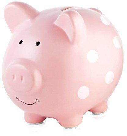 Pearhead Ceramic Piggy Bank Pink
