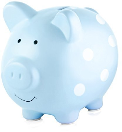Pearhead Ceramic Piggy Bank Blue
