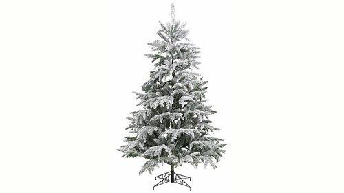 Tannenbaum Mit Schneefall.Schnee Weihnachtsbaum