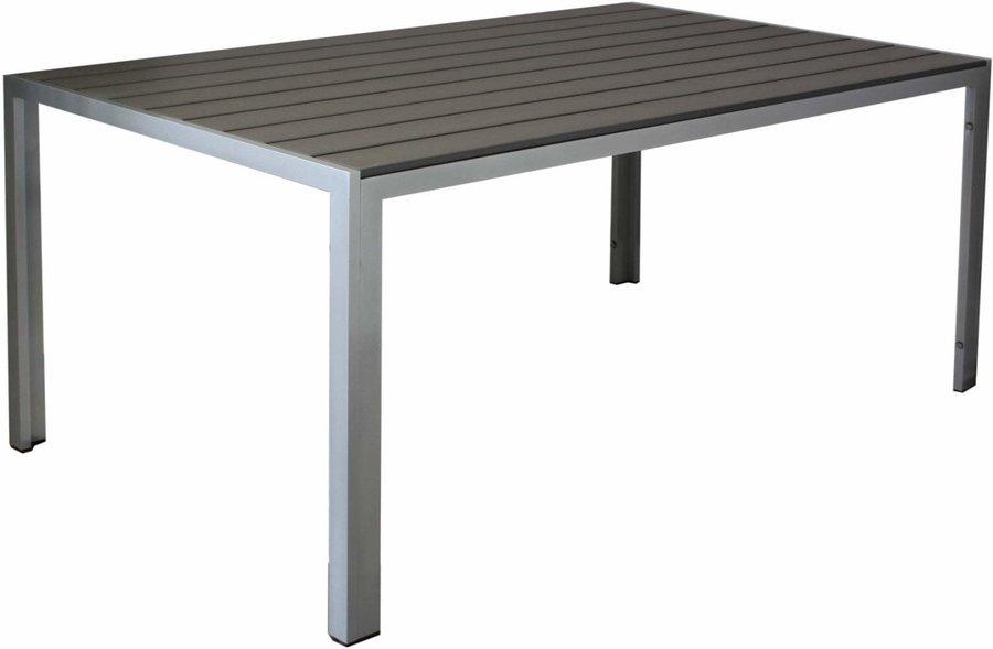 NON WOOD Gartentisch KYNAST 70 x 70 cm anthrazit silber Aluminium Tisch Gestell