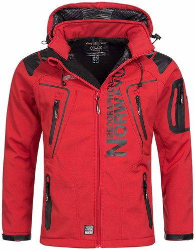 Geographical Norway Techno Softshell Jacket red