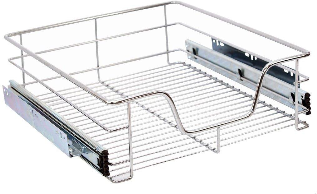 2x Teleskop Küchen Schublade Küchenschublade für 60cm Schränke Korbauszug Regal#