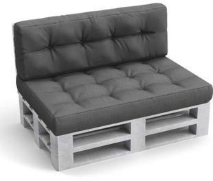 VICCO Kissen-Set Sitzkissen Rückenkissen 15cm Flocke anthrazit