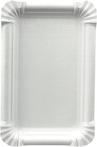 Papstar Teller Pappe pureeckig 13x20cm weiß (81197)
