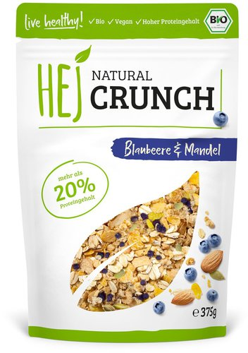 Hej Natural Natural Crunch Blueberry & Almonds 375g