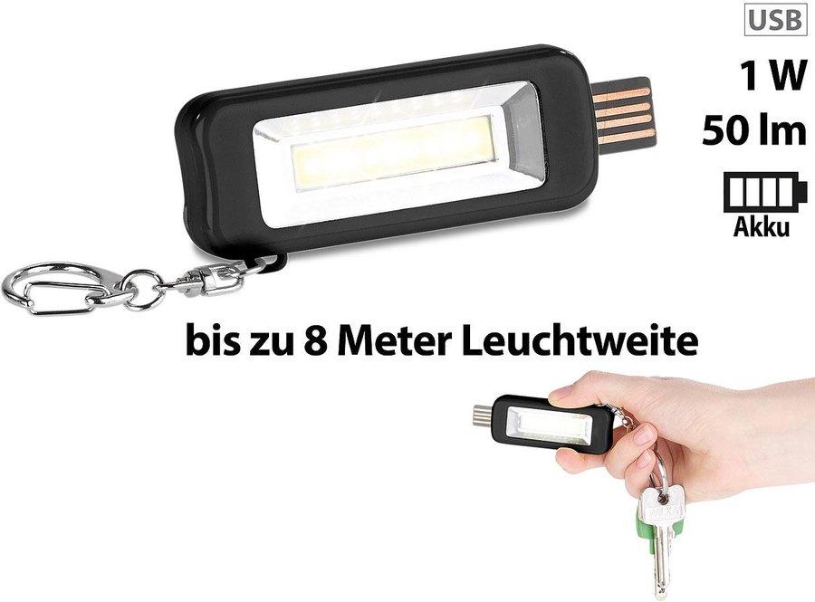 Blau Gusspower LED Schl/üsselanh/änger Taschenlampe f/ür Camping Haushalt Workshop Mini COB USB Wiederaufladbare Tragbare Arbeitsscheinwerfer Inspektionslampe IPX4 Wasserdicht