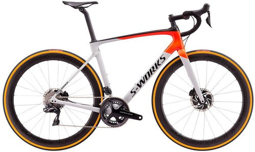Specialized S-Works Roubaix Shimano Dura Ace DI2 Carbon 2020 gloss dove gray-rocket red