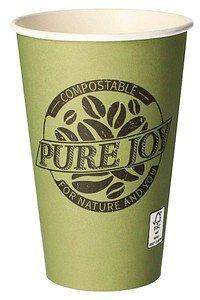 Papstar Pure Joy Pappe pure 0,3L grün (87868)