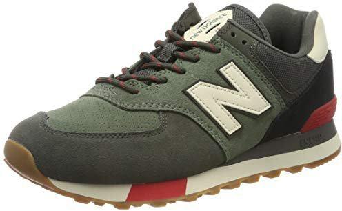 New Balance 574 camo green with team red günstig kaufen