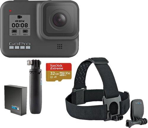 GoPro HERO8 Black + Shorty + Akku + Speicherkarte + Kopfband