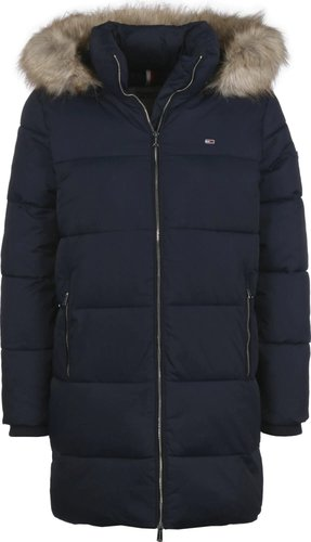 Tommy Hilfiger Quilted Faux Fur Hood Puffer Coat (DW0DW07109)