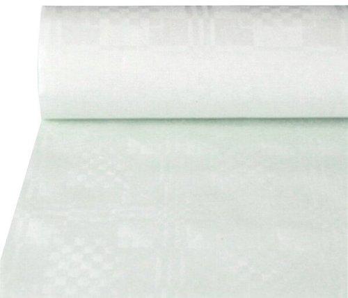 Papstar Damast-Tischtuch 1 x 10 m weiß (6412540)