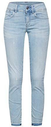 G-Star Lynn Mid Waist Skinny Ripped Jeans light aged destroy