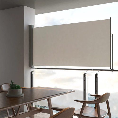 vidaXL Seitenmarkise 120x300cm creme