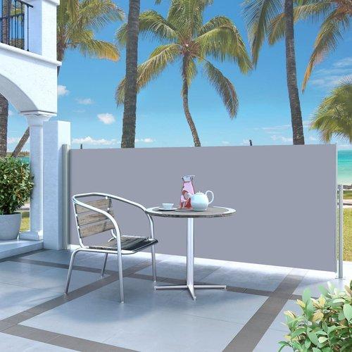 vidaXL Seitenmarkise 120x300cm hellgrau