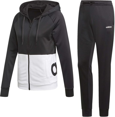 Adidas Linear French Terry Tracksuit Women black/white