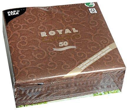Papstar Servietten Royal Casali 50 Stk. Braun