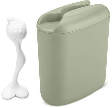 Koziol Vorratsbehälter Hot Stuff Eucalyptus green/Cotton white 1,5 L