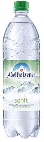 Adelholzener Mineralwasser sanft - mit wenig Kohlensäure