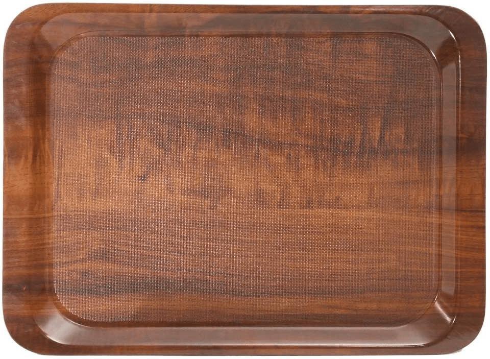 30x22 cm Tablett Serviertablett SUNDER-Kaffeehaus Rand eingerollt Ziseliert
