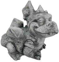 Wichtel Figur und Vogelbad Gartenzwerg  Gartenfigur Gnom Skulptur 13283 Vogelbad