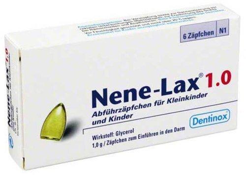 Dentinox Nene Lax 1,0 Suppositorien für Kinder (6 Stück)